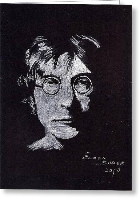 John Lennon Greeting Card by Eamon Gilbert