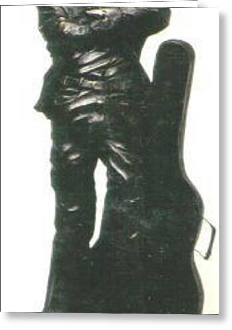 Glowing Sculptures Greeting Cards - John Lennon Greeting Card by Larkin Chollar