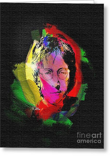 Immortals Greeting Cards - John Lennon Greeting Card by Mo T