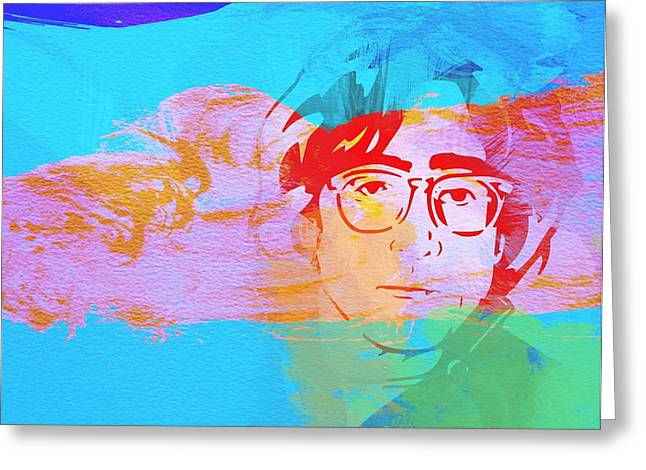 Beatles Paintings Greeting Cards - John Lennon Greeting Card by Naxart Studio