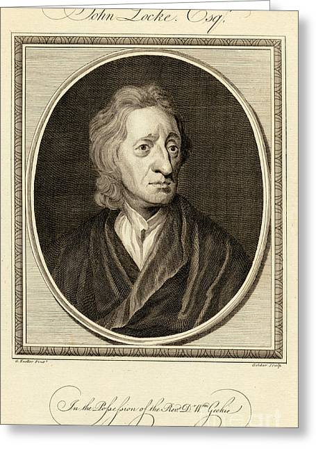 1704 Greeting Cards - John Locke, English Philosopher Greeting Card by Photo Researchers