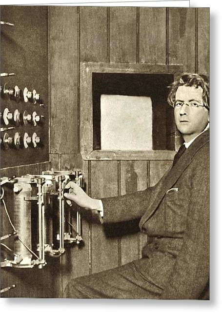 Trans-atlantic Greeting Cards - John Logie Baird, Scottish Engineer Greeting Card by Sheila Terry