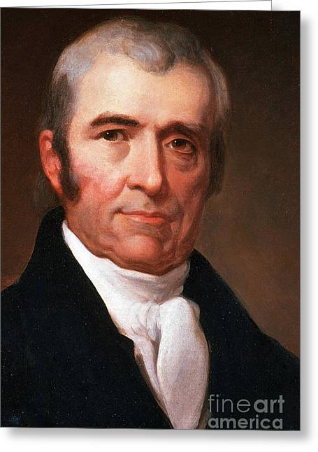 Chief Justice Greeting Cards - John Marshall Greeting Card by Photo Researchers
