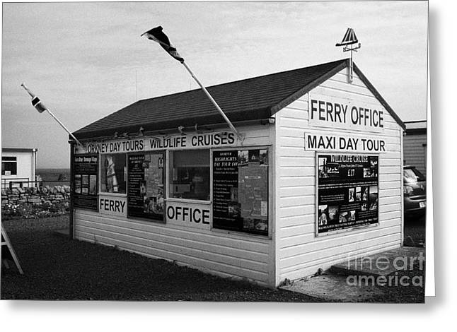 Groat Greeting Cards - John OGroats ferry office scotland uk Greeting Card by Joe Fox