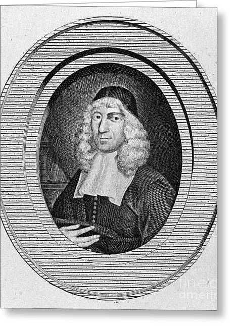 Skullcap Greeting Cards - John Owen (1616-1683) Greeting Card by Granger