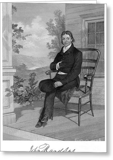 Statesman Greeting Cards - John Randolph (1773-1833) Greeting Card by Granger