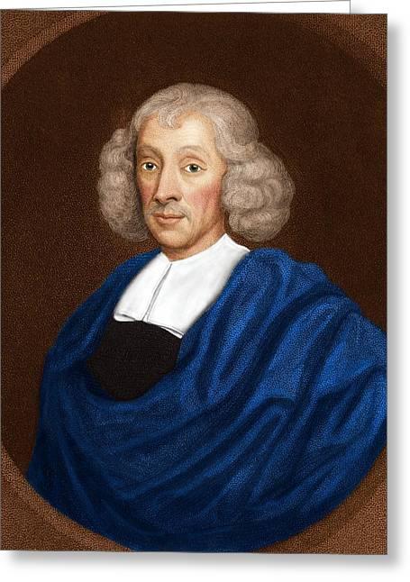Taxonomist Greeting Cards - John Ray, English Naturalist Greeting Card by Maria Platt-evans