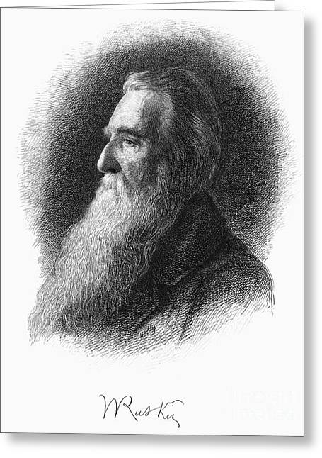 Autograph Greeting Cards - John Ruskin Greeting Card by Granger