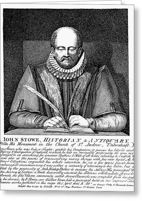 Antiquarian Greeting Cards - John Stow (1525-1605) Greeting Card by Granger