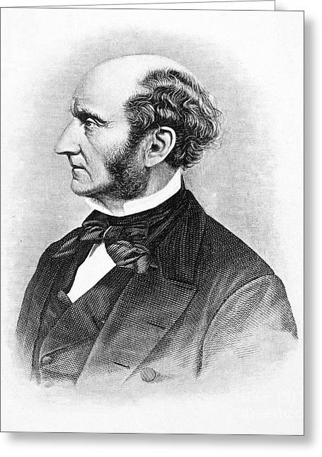 Sideburns Greeting Cards - John Stuart Mill Greeting Card by Granger