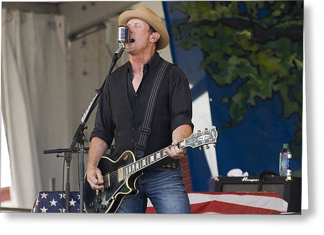 John Thomas Griffith Of Cowboy Mouth Greeting Card by Terry Finegan