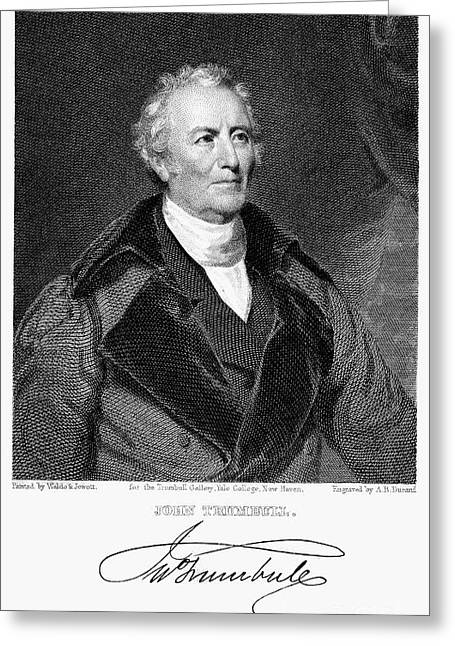 Lapel Greeting Cards - John Trumbull (1756-1843) Greeting Card by Granger