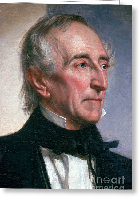 U.s.a. President Greeting Cards - John Tyler Greeting Card by Photo Researchers