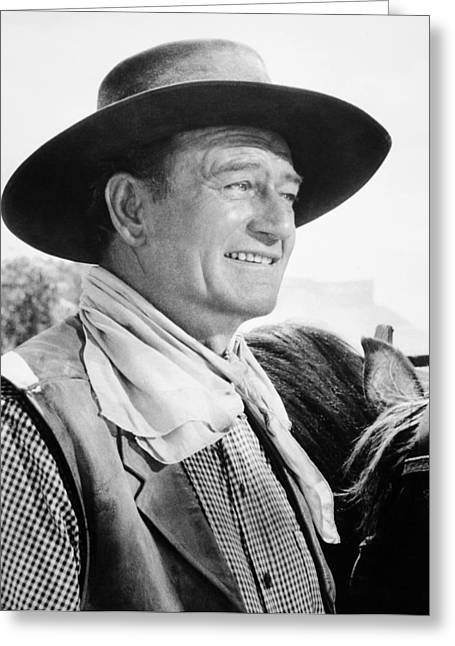 1950s Portraits Photographs Greeting Cards - John Wayne (1907-1979) Greeting Card by Granger