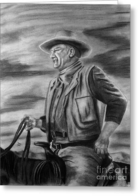 John Wayne Greeting Card by Russ  Smith