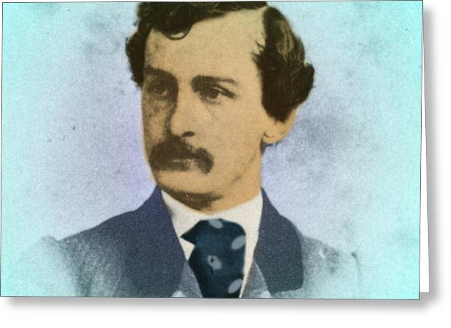 Voting Rights Greeting Cards - John Wilkes Booth, Assassin Greeting Card by Photo Researchers