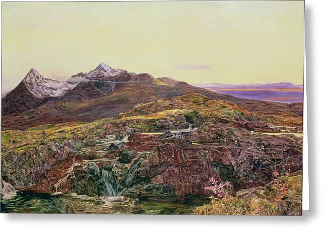 Heather Paintings Greeting Cards - John William Inchbold Greeting Card by Skye from Sligechan