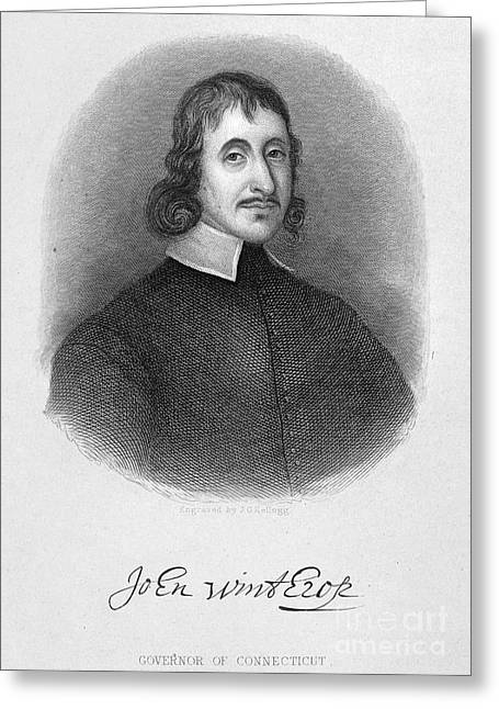 Winthrop Greeting Cards - John Winthrop The Younger Greeting Card by Granger