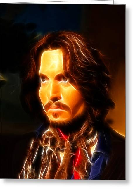 People Greeting Cards - Johnny Depp -  Pirates of the Caribbean Greeting Card by Lee Dos Santos
