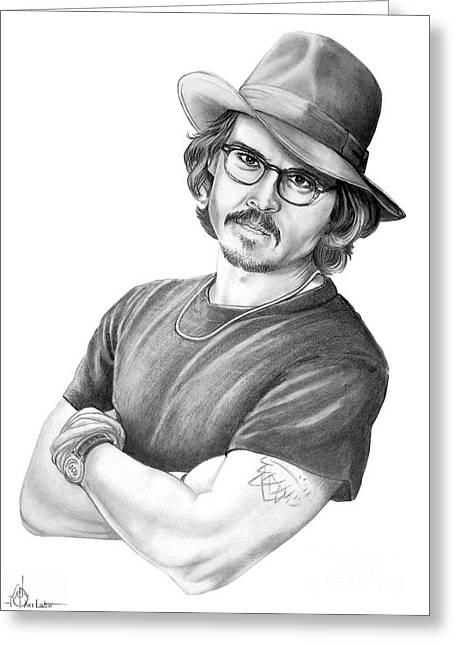 Murphy Elliott Greeting Cards - Johnny Depp Greeting Card by Murphy Elliott