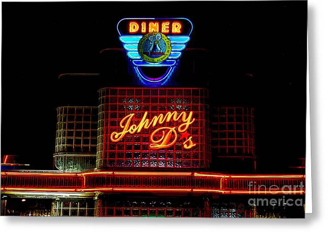 Local Food Places Greeting Cards - Johnny Ds Greeting Card by Guy Harnett