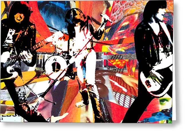Dee Dee Ramone Greeting Cards - Johnny Markie Joey DeeDee Greeting Card by Kevin Newton
