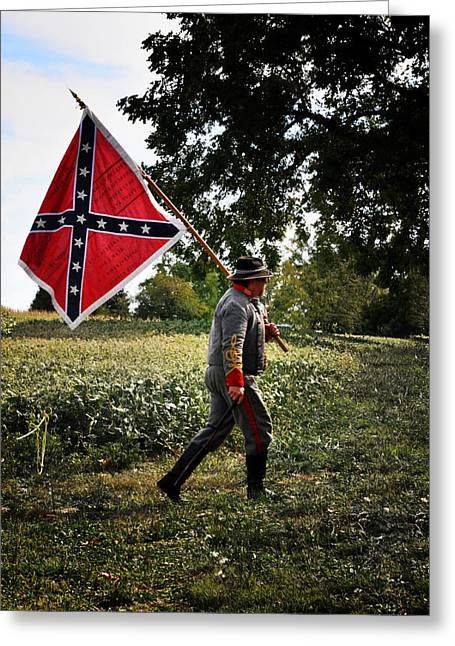 Confederate Flag Digital Art Greeting Cards - Johnny Reb Greeting Card by Bill Cannon