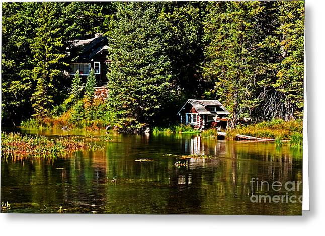 Scenic River Photography Greeting Cards - Johnny Sack Cabin II Greeting Card by Robert Bales