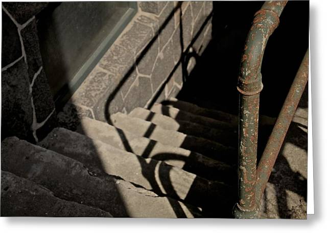 Stone Steps Photographs Greeting Cards - Johnnys In The Basement Greeting Card by Odd Jeppesen