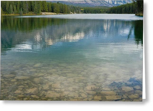 Johnson Lake Rocks Greeting Card by Adam Pender