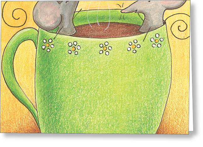 Join Me in a Cup of Coffee Greeting Card by Christy Beckwith