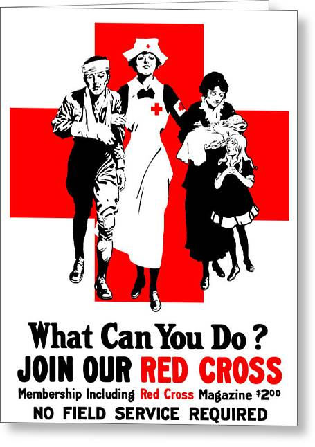 Nurses Greeting Cards - Join Our Red Cross Greeting Card by War Is Hell Store