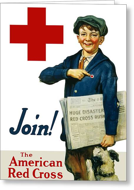 Wwi Greeting Cards - Join The American Red Cross Greeting Card by War Is Hell Store