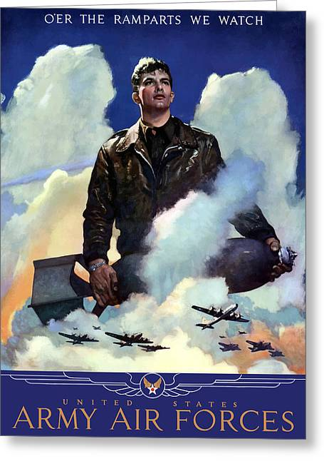 Air Greeting Cards - Join The Army Air Forces Greeting Card by War Is Hell Store