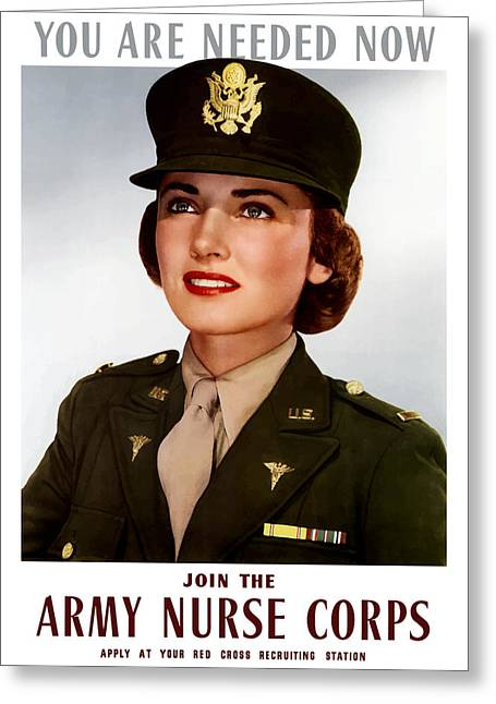 Health Greeting Cards - Join The Army Nurse Corps Greeting Card by War Is Hell Store