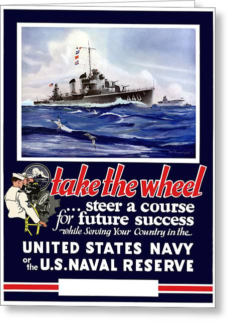 Ship Digital Art Greeting Cards - Join The US Navy Greeting Card by War Is Hell Store
