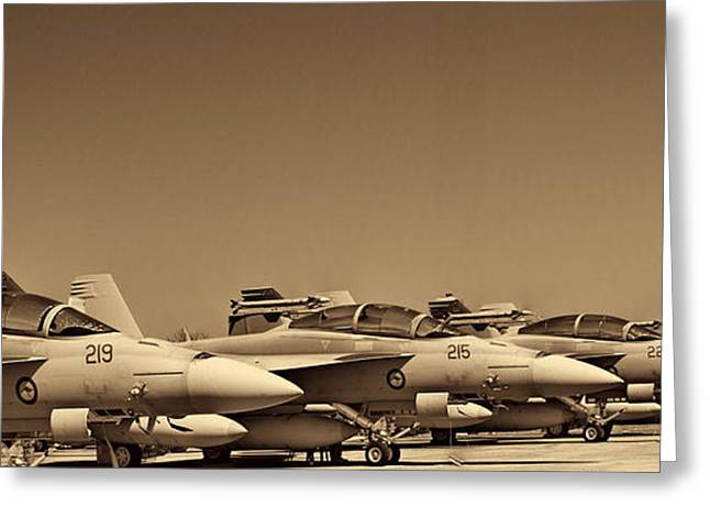 Fighters Greeting Cards - Joint Operations Squadron  Greeting Card by Douglas Barnard