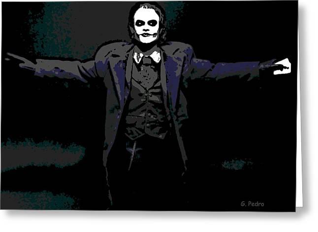 Bad Drawing Digital Art Greeting Cards - Joker Greeting Card by George Pedro