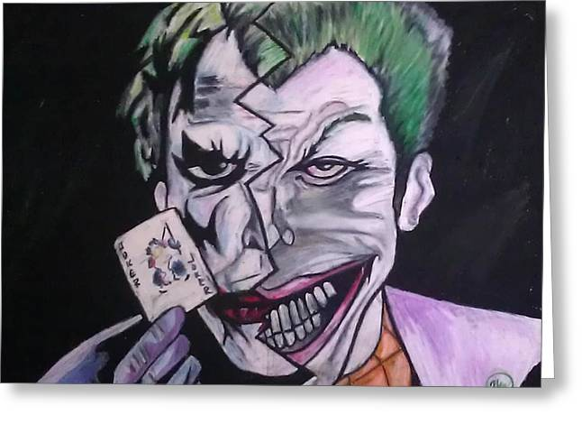Tricks Pastels Greeting Cards - Joker Greeting Card by Holly Walker