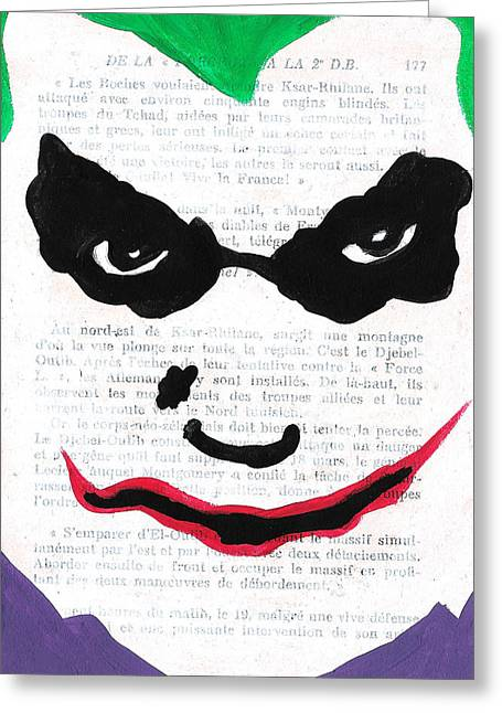Why So Serious Greeting Cards - Joker Greeting Card by Jera Sky