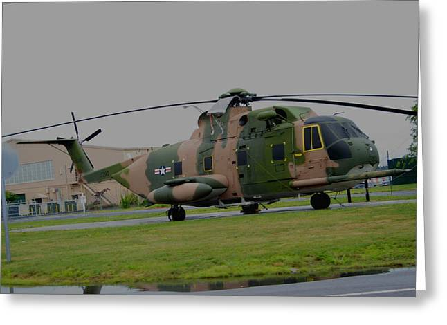 Sikorsky Photographs Greeting Cards - Jolly Green Greeting Card by Christopher Kirby