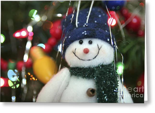 Snowman Greeting Cards - Jolly Greeting Card by Jeannie Burleson