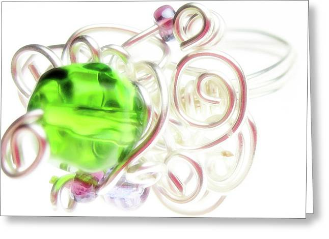 Wire Jewelry Greeting Cards - Jolly Rancher Greeting Card by Molly McPherson