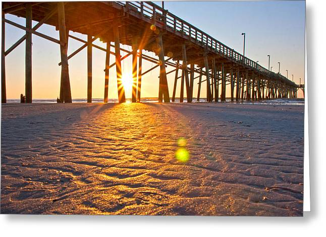 Jolly Roger Pier Sunrise U Greeting Card by Betsy C Knapp