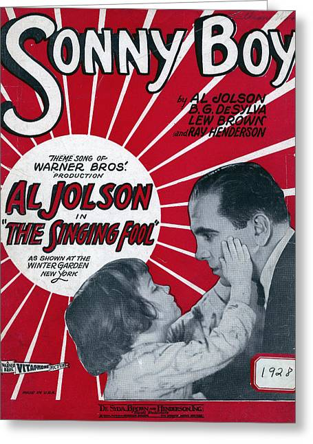Sonny Greeting Cards - Jolson: Sheet Music Cover, 1928 Greeting Card by Granger