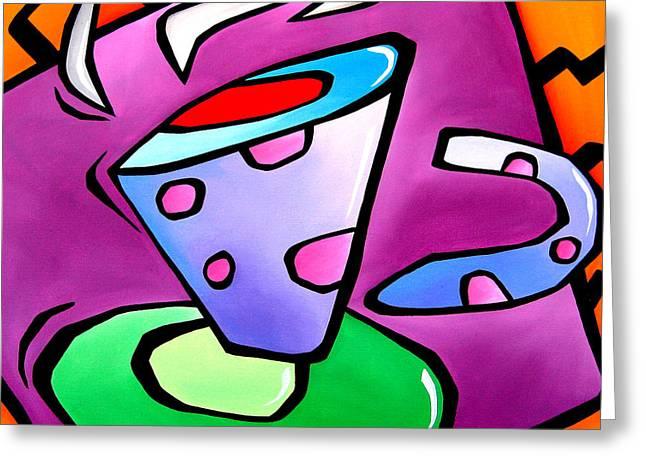 Fidostudio Greeting Cards - Jolt - Abstract Pop Art by Fidostudio Greeting Card by Tom Fedro - Fidostudio