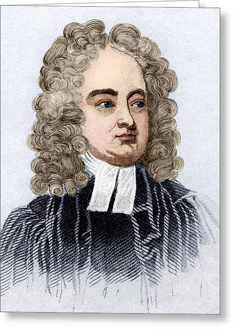 Gullivers Greeting Cards - Jonathan Swift, English Author Greeting Card by Sheila Terry
