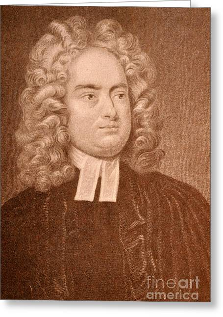 Gullivers Greeting Cards - Jonathan Swift Greeting Card by Photo Researchers
