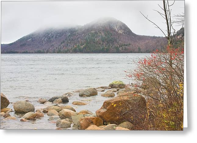 Acadia National Park Greeting Cards - Jordan Pond and the Bubbles Acadia National Park Greeting Card by Keith Webber Jr