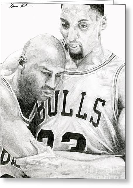 Chicago Bulls Greeting Cards - Jordan Will To Win Greeting Card by Tamir Barkan